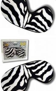 PLEASURE MASK ZEBRA -pluszowa maska na oczy zebra