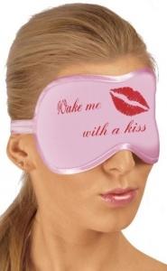 Roxana -  MASK PINK - różowa maska na oczy z napisem