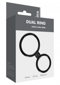 DUAL RING COCK AND BALL RING - pierścień na penisa i jądra