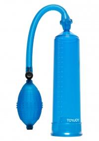 HARD BLUE - POMPA powiększająca penisa niebieska