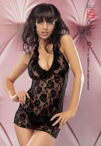 ADDICTIVE LINGERIE - ALESSIA - seksowna koszulka + stringi