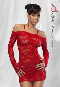 ADDICTIVE LINGERIE - CARMEN RED -seksowna koszulka + stringi