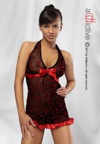 ADDICTIVE LINGERIE -SWEETHEART -romantyczna koszulka+ stringi