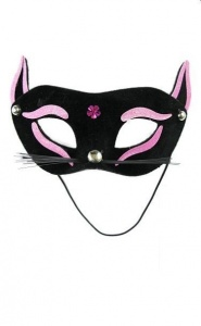 PARTY FUN- EXCLUSIVE MASK - maska na oczy kotek pink