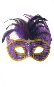 PARTY FUN- EXCLUSIVE MASK - maska na oczy kotek violet
