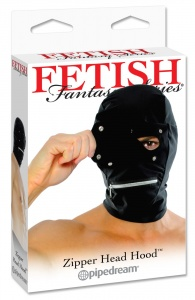 FETISH FANTASY SERIES ZIPPER  HOOD - maska z zamkiem