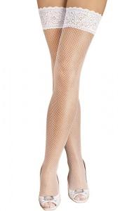 LUXURY LEGS - eleganckie pończochy kabaretki zdobione koronką