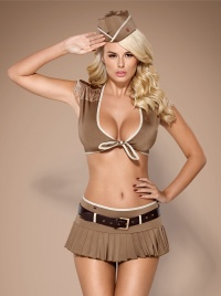 Obsessive - SOLDIERING SKIRTY SET - seksowna żołnierka - kostium 5 częściowy
