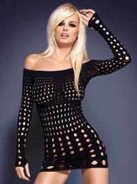 Obsessive - ROCKER BLACK - drapieżna sukienka