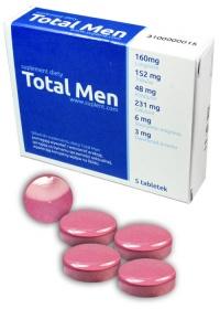 TOTAL MEN - bardzo silne tabletki erekcyjne dla mężczyzn / efekt viagry / 5 tabletek