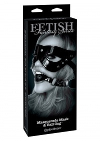 FETISH FANTASY BALL GAG AND MASK - knebel + maska