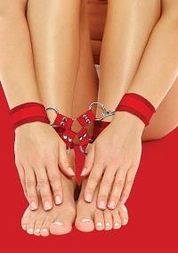 OUCH VELCRO SET - kajdanki na nogi i ręce