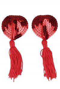 SEQUIN NIPPLE RED - kuszące nasutniki zdobione cekinami