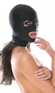 FETISH FANTASY SERIES SPANDEX FACE HOOD - maska z otworami
