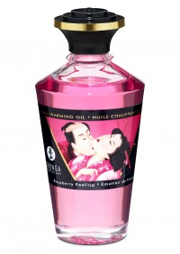 SHUNGA INTIMATE KISSES OIL CHERRY - jadalny olejek do masażu erotycznego