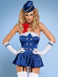 Obsessive - STEWARDESS 2G - seksowny kostium Stewardessy 6 częściowy