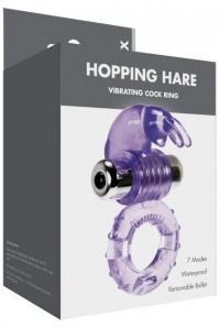 HOPPING VIBRATION RING - żelowy pierścień na penisa - 7 funkcji wibracyjnych