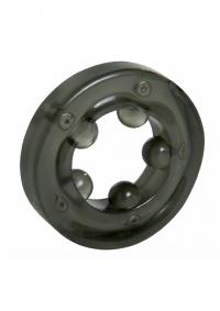 MAGNETIC COCK RING BLACK - ring erekcyjny z magnetyzerem