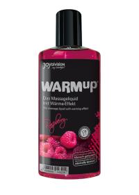 WARMup RASPBERRY - rozgrzewający, jadalny olejek do masażu erotycznego