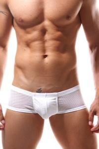 Doreanse Men - NAUGHTY BOY STYLE SHORTS WHITE - seksowne bokserki męskie