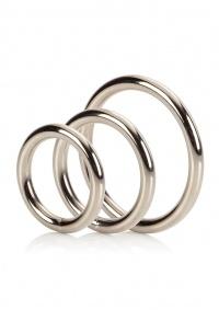 HEAVY METAL SET - zestaw 3 metalowych ringów na penisa