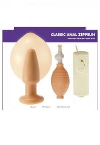 ANAL ZEPPELIN -specjalistyczny wibrator analny/ pompowany