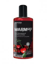 WARMup CHERRY - rozgrzewający, jadalny olejek do masażu erotycznego