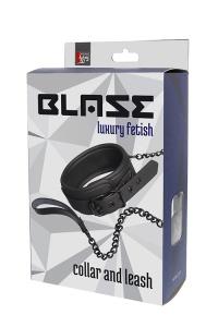 BLAZE LUXURY FETISH COLLAR AND LASH - elegancka obroża + smycz